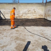 Silo Pit Before | Armstrong Surfacing