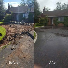 Driveway Extension Before & After
